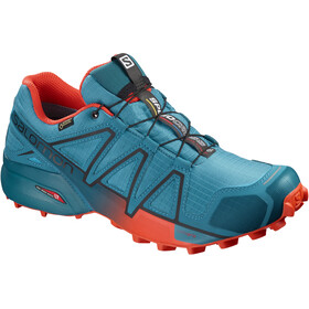 Salomon Speedcross 4 GTX Shoes Men Fjord Blue/Cherry Tomato/Black